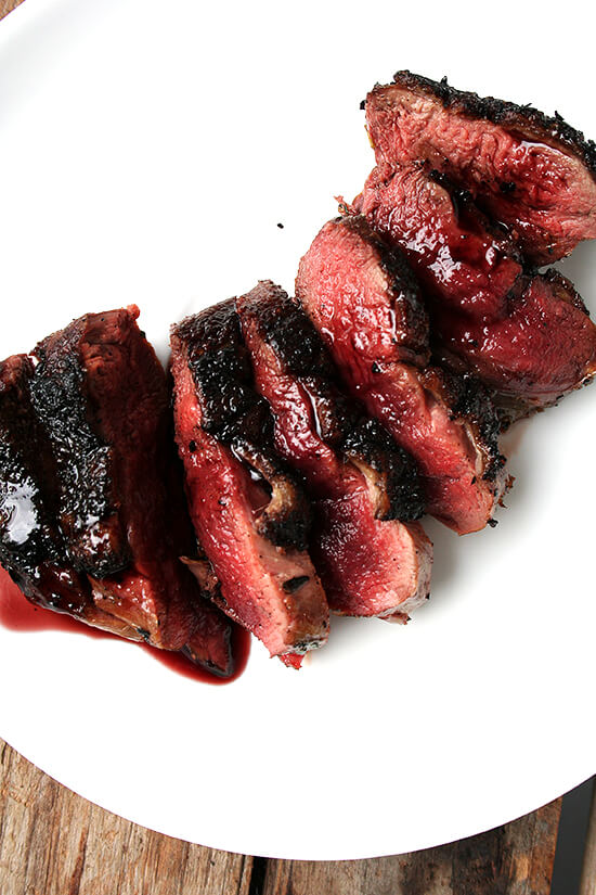 Pan-Seared Wild Duck Breast with Port Wine Reduction