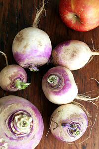 turnips and apple