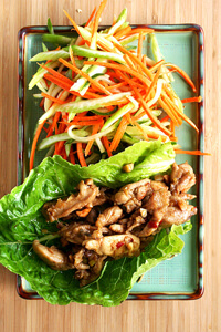 Asian Lettuce Wraps with Slaw