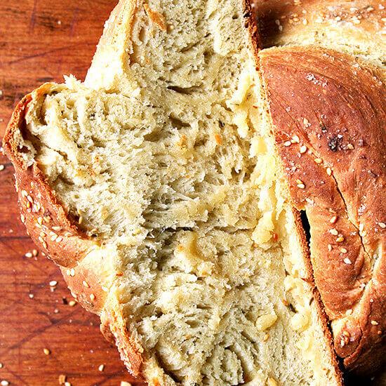 Rosemary Semolina Bread with Sea Salt from Seattle's Macrina Bakery