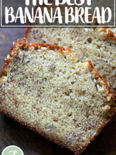 Just baked banana bread.