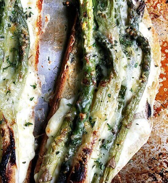 Tartine-Style Asparagus & Spring Onion Croque Monsieur