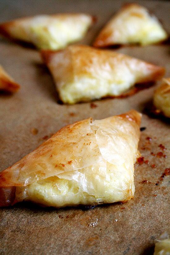 tiropitas, just baked