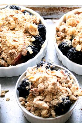 nectarine-blackberry crostatas