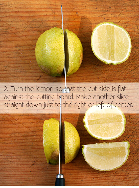How To Cut A Lemon For Garnish