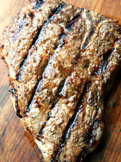 Grilled T-Bone Steak with Dead Easy and Quick Marinade