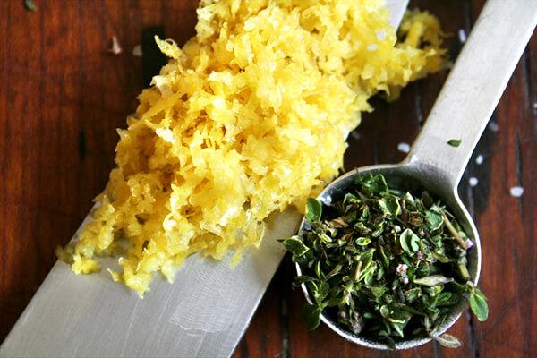 lemon zest & lemon thyme
