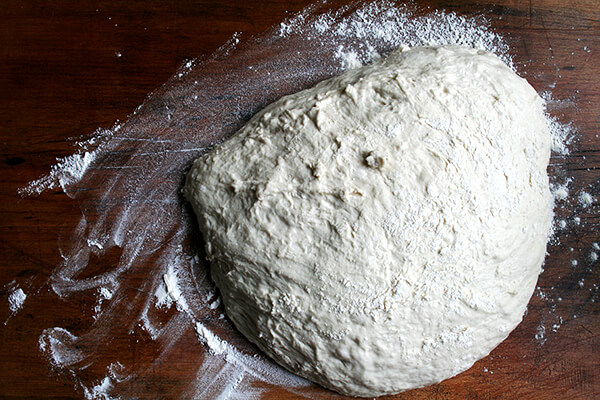 Jim Lahey dough, ready to be divided