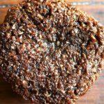 An overhead shot of a bran muffin.