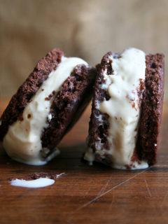 butterscotch budino ice cream sandwiches