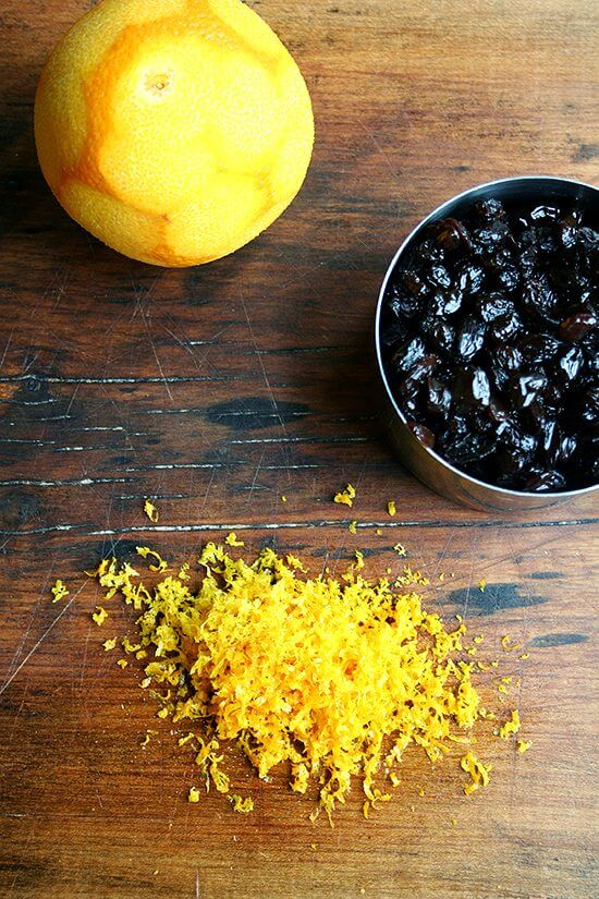 orange and raisins