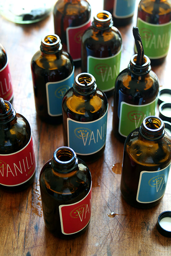 With vanilla beans and alcohol on hand, you are all set to start making homemade vanilla extract. The process couldn't be more simple: heat alcohol just to its boiling point; pour it over split vanilla beans; let the extract steep for at least six weeks. // alexandracooks.com