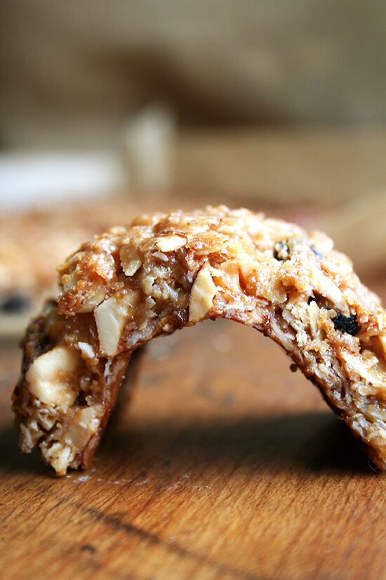 Many experimentations with various recipes have led to this granola bar formula, which yields a chewy, not-too-sweet bar that can be stored at room temperature in ziplock bags. // alexandracooks.com