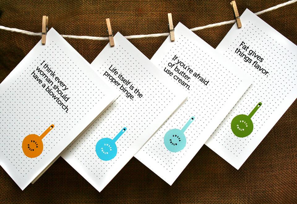 Julia Child notecards (vertically oriented)