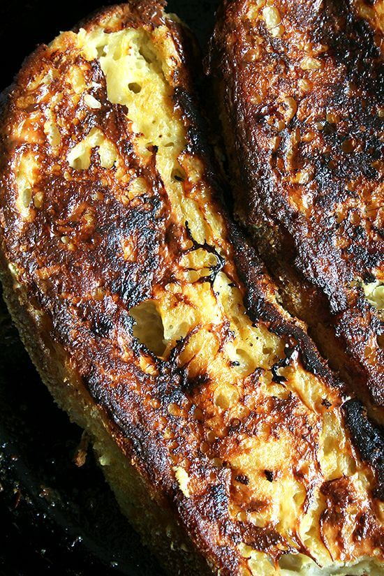 While I love this baked French toast above all for its texture — caramelized on the outside, not soggy on the inside — what distinguishes it from any other French toast I've had, baked or otherwise, is the presence of lemon zest, a most-unexpected and delicious flavor in a traditionally cinnamon-spiked dish. // alexandracooks.com