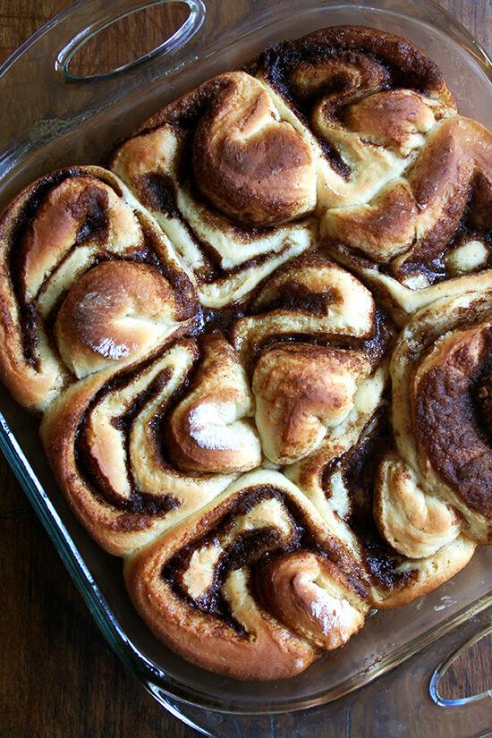 cinnamon rolls, just baked