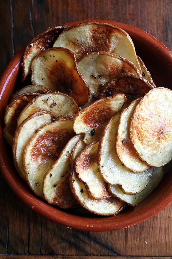 roasted potato coins — amazing
