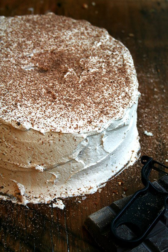 """Described by Craig Claiborne, as """"divine, celestial, manna from heaven,"""" homemade angel food cake is a culinary triumph. Without any leavening the cake rises to extraordinary heights; without a lick of butter or oil, the cake remains incredibly moist and spongey. It is truly a feat. // alexandracooks.com"""