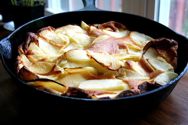 big apple pancake, just baked