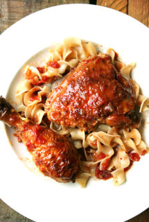 Favorite Sunday Dinner: Braised Chicken with Sherry & Sherry Vinegar