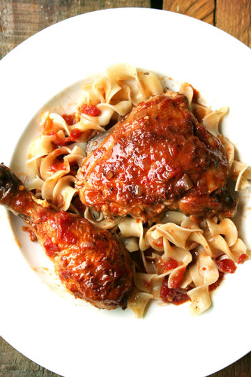 Favorite Sunday Dinner: Braised Chicken with Sherry & Sherry Vinegar