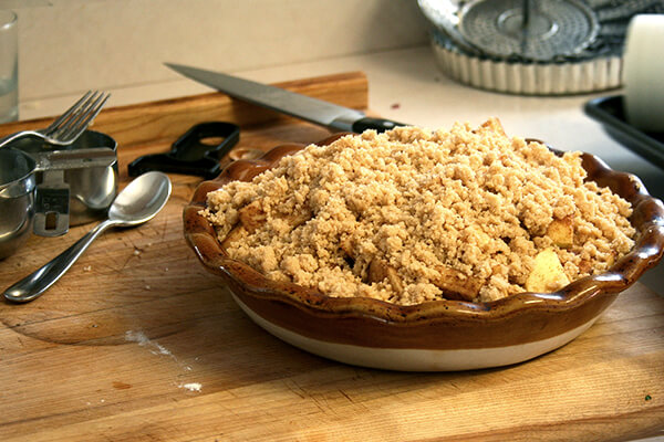 Darcy's apple crumble — so delicious!