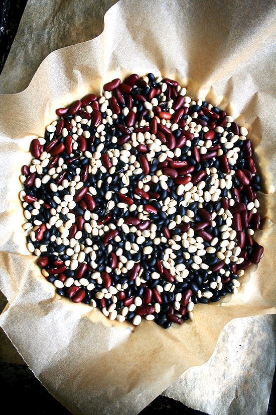 dried beans for blind baking