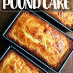 Just-baked lemon-ricotta pound cakes.