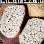 No-knead peasant bread.