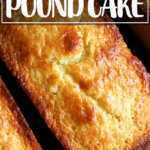 Just-baked orange-ricotta pound cakes.
