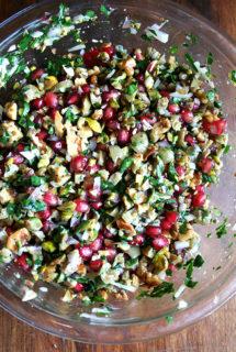 Green Olive, Walnut & Pomegranate Salad; Thanksgiving Day Recap