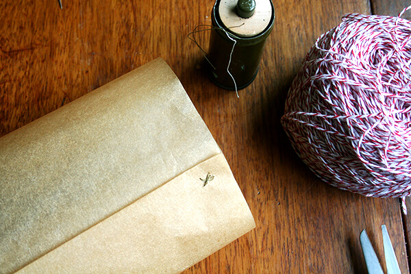sewing parchment for packaging