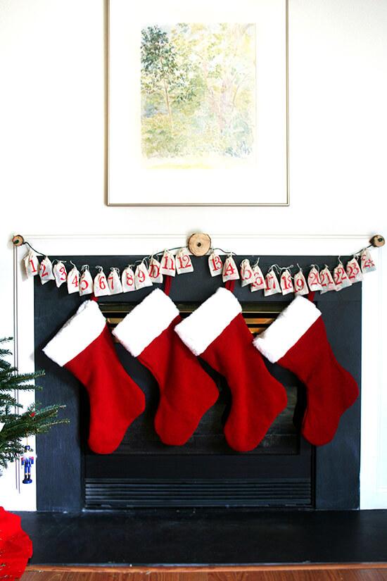 advent calendar & stockings