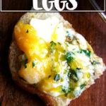 Baked eggs on toast.