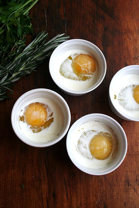 eggs with cream