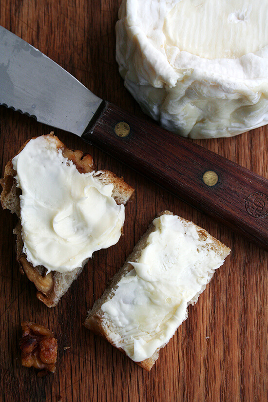 Delice de Bourgogne on walnut bread