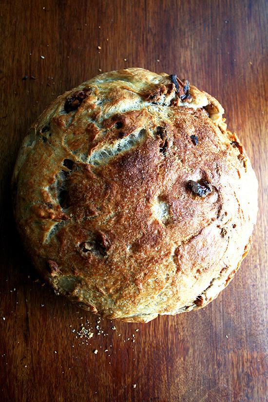just-baked walnut bread