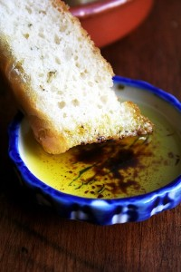 basil oil & balsamic