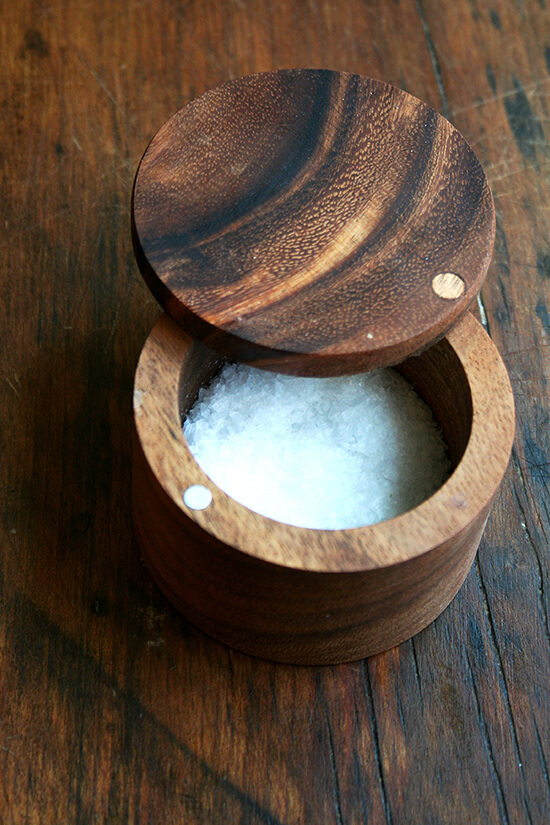 new salt cellar for sea salt