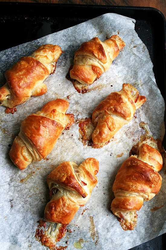 just-baked croissants