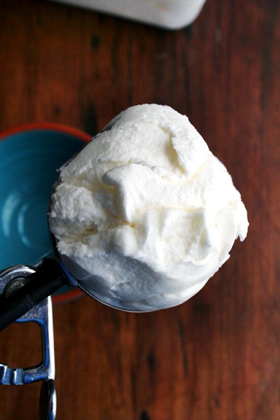 scoop of mascarpone sorbet