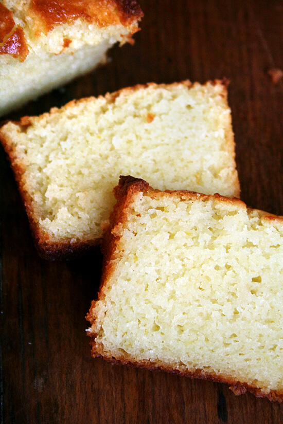 Flavored with lemon zest and freshly squeezed lemon juice, this incredibly tasty and moist — thanks to a generous amount of ricotta cheese — pound cake is the perfect treat to bestow on anyone this time of year, but most especially, your mother. // alexandracooks.com