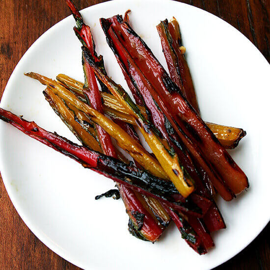 Grilled Swiss Chard Stems with Anchovy Vinaigrette | Anchovy Tin Lamp