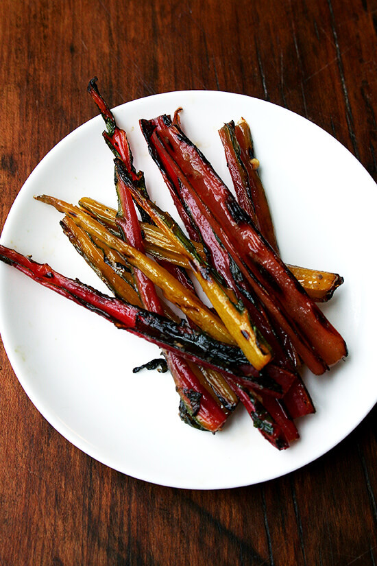 Here are two more reasons to invest in a pack of salt-packed anchovies: 1. The beautiful tin can be transformed into a side table lamp. 2. Grilled swiss chard stems have never tasted so good. // alexandracooks.com