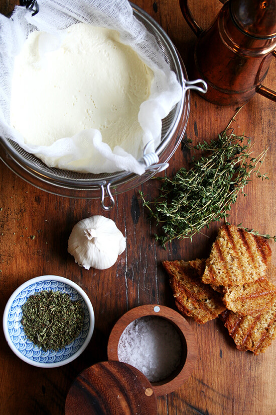 ingredients for homemade ricotta appetizer
