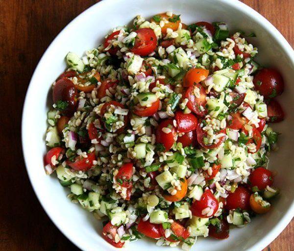 a bowl of tabbouleh