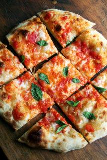 Baking Steel Pizza: Tomato & Mozzarella // Caramelized Onion & Burrata