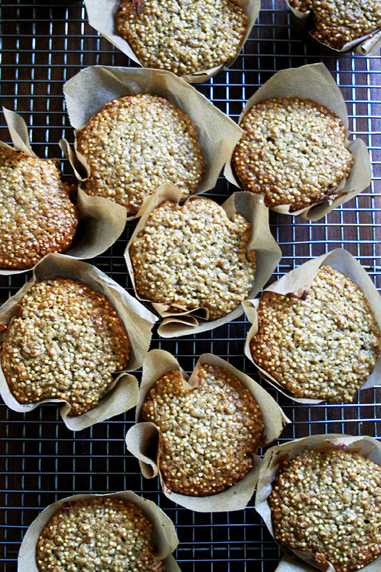just-baked millet muffins