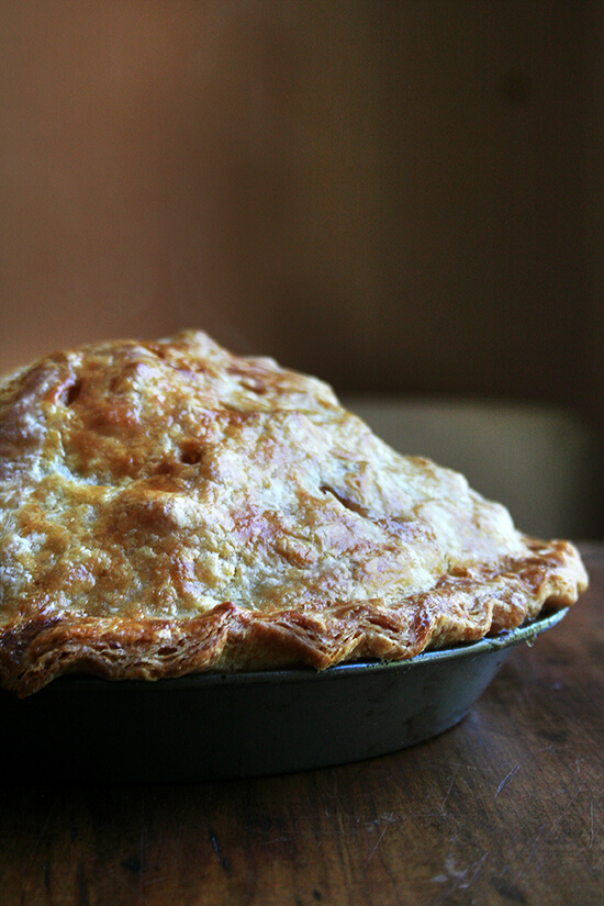 Spiced with cinnamon and cloves, made with no fewer than 10 apples, this classic apple pie is a most festive fall dessert and a great way to use up all of those apples! // alexandracooks.com