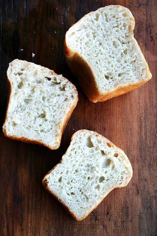 cut loaves of peasant bread
